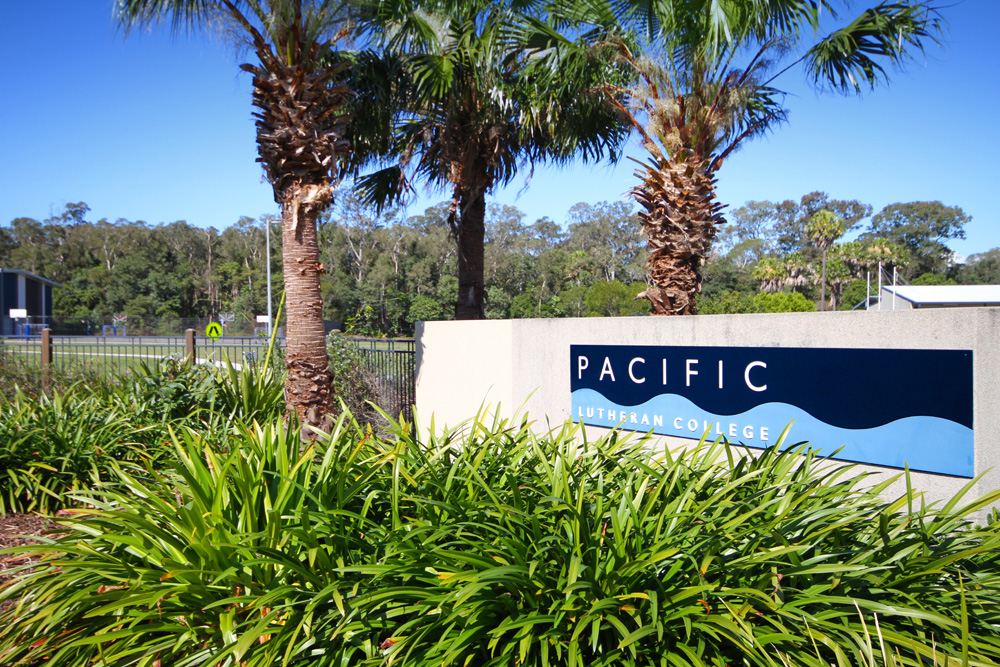 Pacific Lutheran College sign