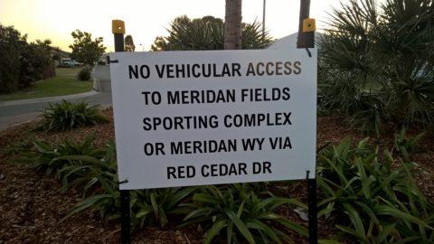 Meridan Fields road sign